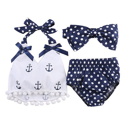 Baby girl anchor set