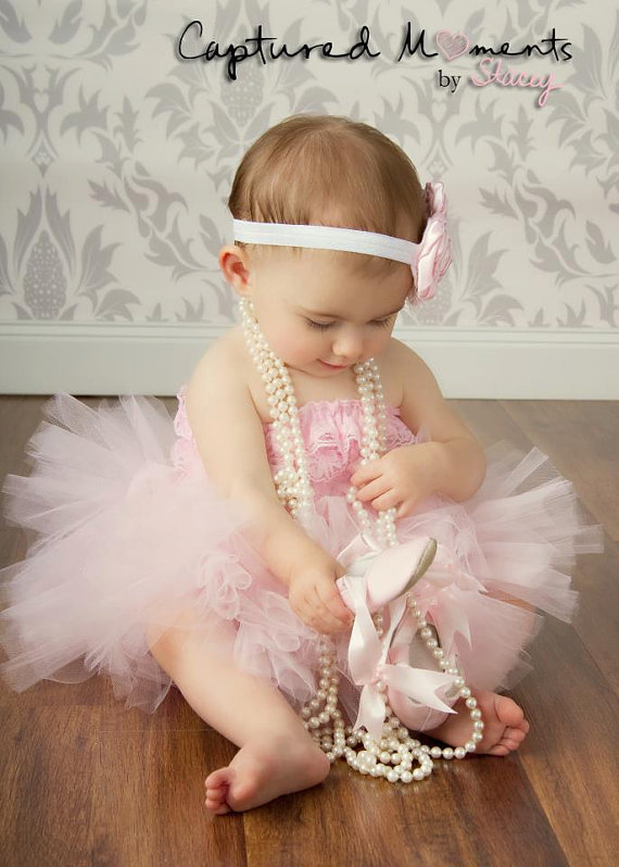Little girls baby pink tutu skirt
