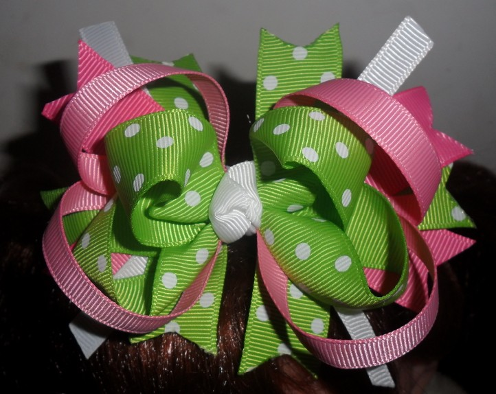 Strawberry/Lime hair bow