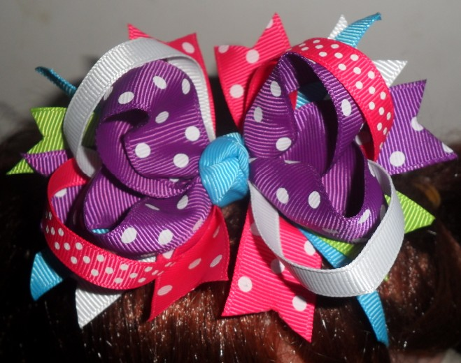 Rocky Road Bow Hair Clip.