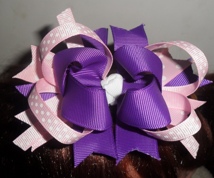 Lavender and Pink  Hair Clip