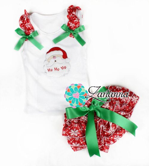 Baby Christmas Bloomer set