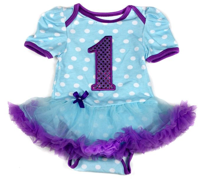 Blue/Purple Birthday onesie