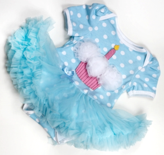 Blue Baby birthday Onesie