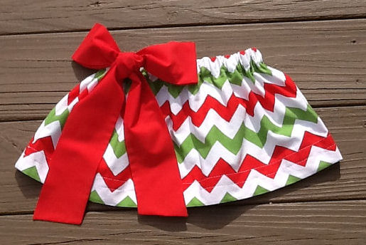 Chevron skirts