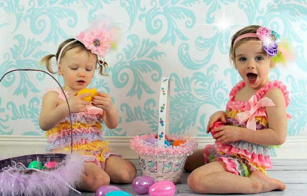 Easter Lace Rompers