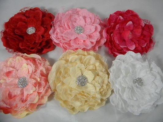Peony laced flower Clip/Brooch
