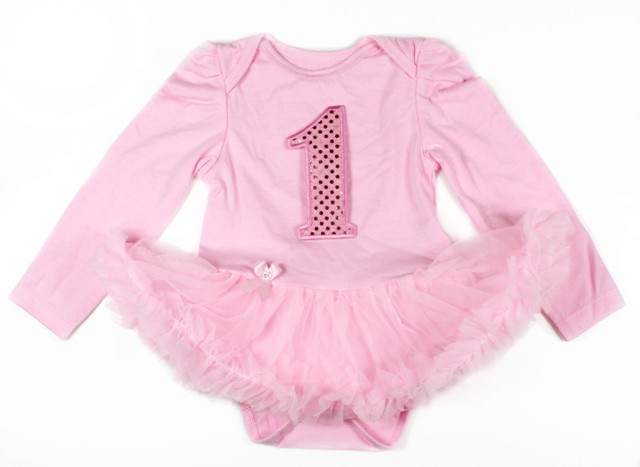 Light Pink Winter birthday Onesie