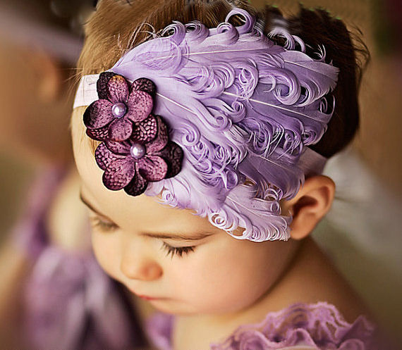 Lilac feather headband