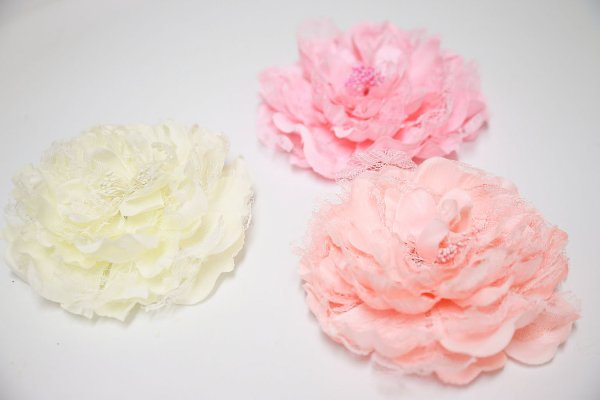 Peony Lace Hair Clip/Brooch