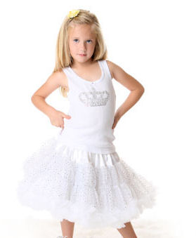 White Sparkle Pettiskirt