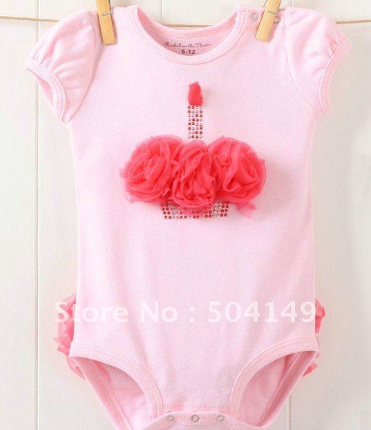 Pink Candle birthday Onesie