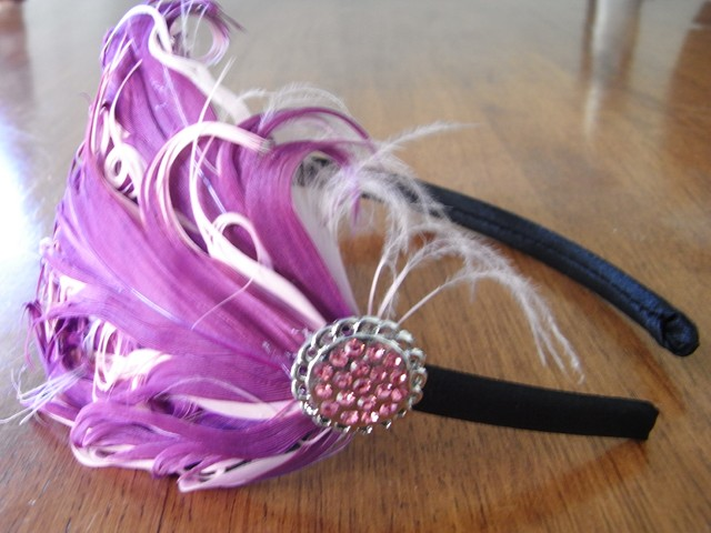 Pink Feather headbands