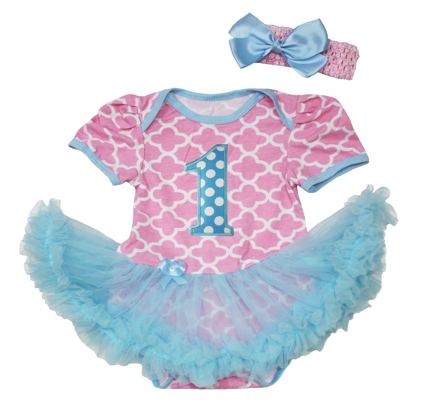 Blue/Pink Baby birthday Onesie