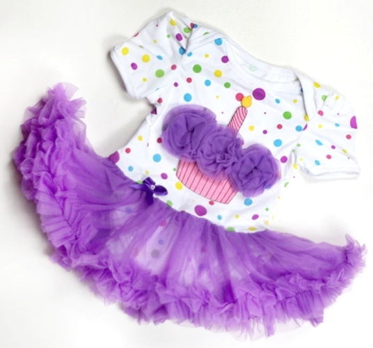 Purple Baby birthday Onesie