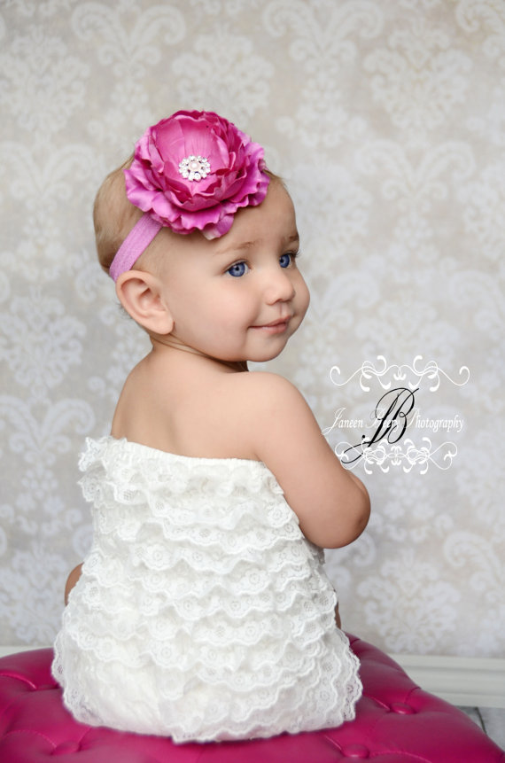 Diamantee Flower Headband