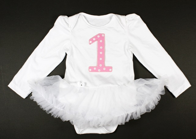White Winter Birthday Onesie