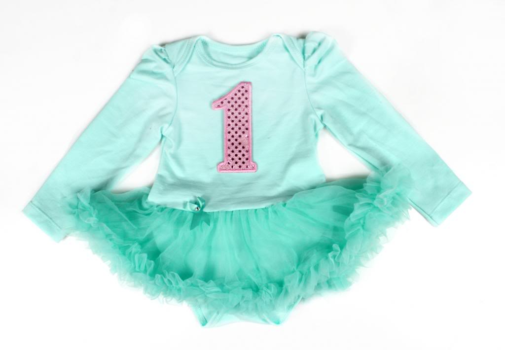 Aqua Winter birthday Onesie