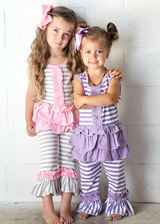 Striped Capri Sets