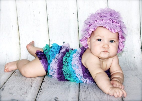 Peacock Lace Rompers