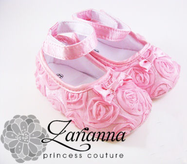 Baby Pink Rosette shoes