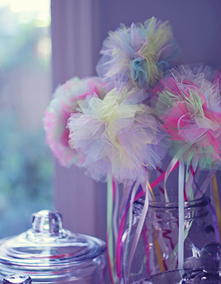 Tulle Puff  Fairy Wands