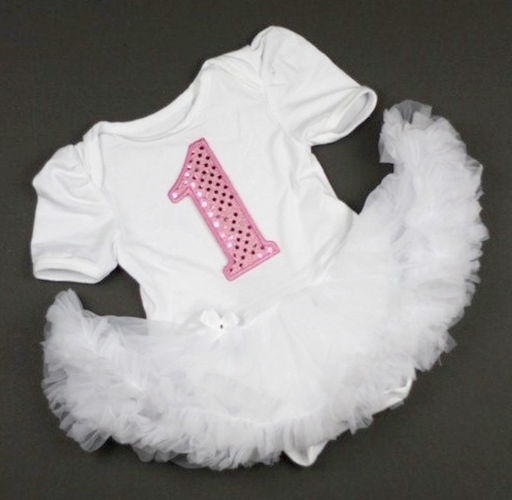 White Baby birthday Onesie